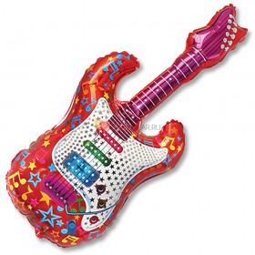 Шар фигура Гитара красная