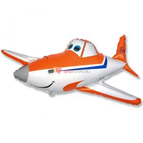 Шар фигура Самолет оранжевый