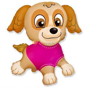 Шар фигура Щенок в розовом Скай