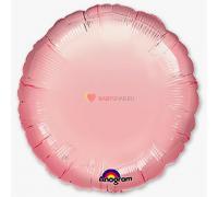"""Фольгированный круг 18"""" Розовый"""