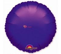 """Фольгированный круг 18"""" Фиолетовый"""