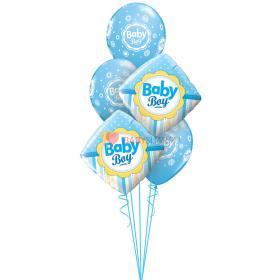 "Букет шаров ""Спасибо за сына"" с шарами ""Baby boy"""