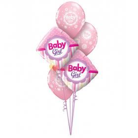 """Букет шаров """"Спасибо за дочь"""" с шарами """"Baby girl"""""""