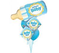 Букет из шаров с бутылочкой для мальчика