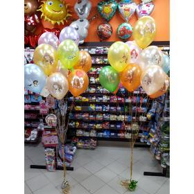 Связка шаров с феями и принцесами