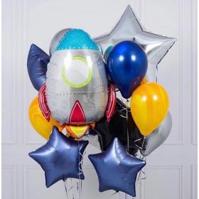 Фольгированный шар космическая ракета