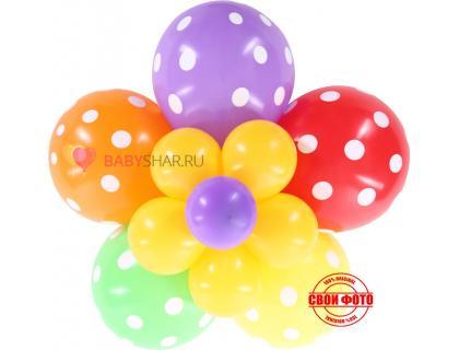 Цветок из шариков с вкраплениями