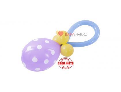 Соска из шариков для украшения квартиры на встречу из роддома