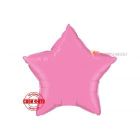 Пятиконечная звезда розового цвета с золотой лентой